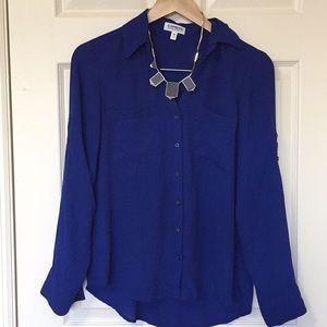 Express Cobalt Blue Blouse